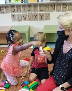 Heather Singleton with the children at Child's Path Santa Barbara