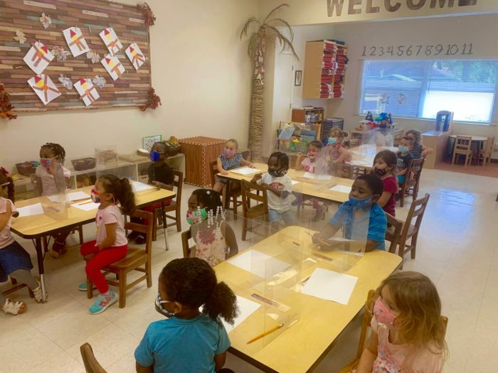 Children in the classroom at Child's Path Santa Barbara early learning center.